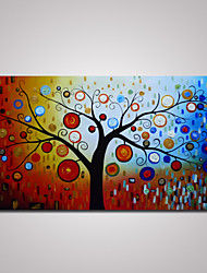 Hand-Painted Abstract Tree Oil Painting on Canvas Unframed