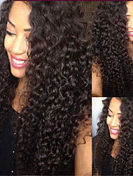 Top Quality Virgin Brazilian Front Lace Wigs/Glueless Full Lace Wigs Kinky Curly Remy Human Hair For Black Women
