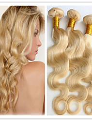 3Pcs/Lot #613 Blonde Color Hair Weft Brazilian Body Wave Hair Extension 100% Human Hair