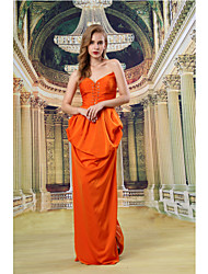 Formal Evening Dress - Orange Ball Gown Sweetheart Floor-length Satin