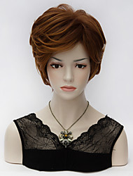 High Quality New Stylish Short Layered Curly Burgundy Party Cosplay Lady's Fashion Synthetic Hair Purecas Wig