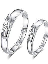 Sterling Silver Ring Couple Rings Wedding 2015 Novo  Prata Banhadoa Ouro 1314 Couples to Quit