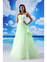 TS Couture® Dress A-line Sweetheart Floor-length Lace / Organza / Satin with