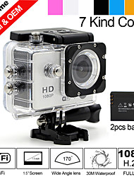 "Besteye®1.5"" Sport DV 5.0MP Full HD 1080P Action Camera WIFI with 170°Wide Angle 30M Waterproof HDMI Helmet Camera"