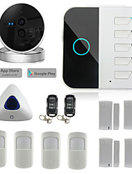 WIFI GSM Home Security Alarm System Security Alarm System Usage Smart Wifi Alarm System with IP Camera