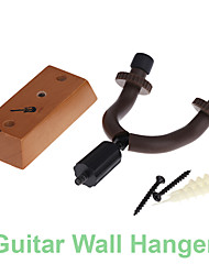 Universal Compact Stringed Instrument Guitar Wall Hanger Rack Hook with Rubber Arms Wooden Base