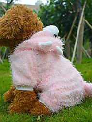 Mäntel für Hunde Rosa / Beige Winter S / M / L / XL Baumwolle / Vlies