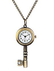Masculino Mulheres Unissex Relógio de Bolso Colar com Relógio Quartzo Lega Banda Vintage