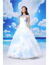 TS Couture® Dress Ball Gown Jewel Floor-length Organza / Satin with