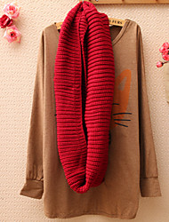 Women's Ribbed Circle Long Scarf , Cute / Casual