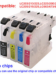 BLOOM® refillable ink cartridge LC203 LC213 LC223 LC20E LC22E LC205 LC215 LC225 LC663 LC673 LC675 For Brother