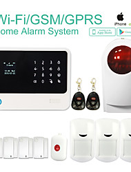 G90B Security Wireless Wifi GSM Alarm System with GPRS,IOS Android APP Burglar Alarm System