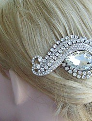 Bridal Hair Accessory Silver-tone Wedding Hair Comb Rhinestone Flower Hair Comb Bridal Hair Comb Wedding Headpiece
