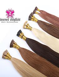 """20 """"i Spitze Haarverlängerungen 100g menschlichen Keratin tip remy Menschenhaarverlängerungen prebonded Haarverlängerung volle dicke Ende"""