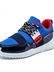 Boys' Shoes Casual Patent Leather Boots Black/Blue/Red