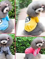 Dog / Cat Coat / Hoodie Blue / Yellow / Gray / Rose Winter Cartoon Wedding / Cosplay