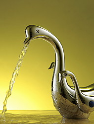 Aquafaucet Swan Bathroom Sink Vessel Faucet Vanity Mixer Tap Chrome Brass Two Handles