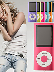 "4GB Slim Mp3 Mp4 Player With 1.8"" LCD Screen FM Radio Video Games Movie"