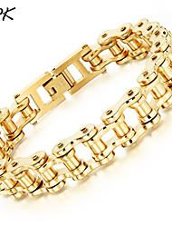 OPK®Men's Stainless Steel Gold Bracelet