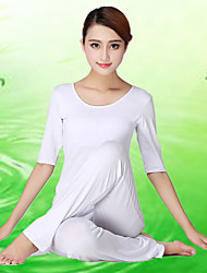 Women's Yoga Suits Half Sleeve Breathable / Lightweight Materials White Yoga / Fitness S / M / L / XL / XXL