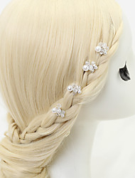 Women's / Flower Girl's Crystal / Alloy / Imitation Pearl Headpiece-Wedding / Special Occasion Hair Pin 4 Pieces