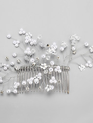 Alloy / Imitation Pearl / Rhinestone Hair Combs Wedding / Party 1set
