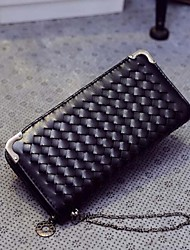 Women Other Leather Type Wallet - Silver/Black