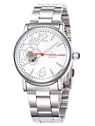 Women's Fasion Hollow Out Full-Automatic Round Dial Stainless Steel Band Machine Analog Wrist Watch(Assorted Color) Cool Watches Unique Watches