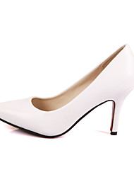 Women's Shoes Leather Stiletto Heel Heels / Pointed Toe / Closed Toe Heels Wedding / Party & Evening / Dress
