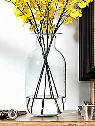Create For Life ®Green Series Manual Blowing Green Transparent Glass Vase