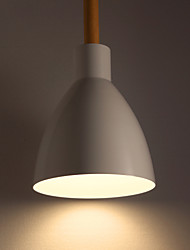 Contracted And Contemporary Restaurant  Vintage Light Rural Nordic Aluminum Wood White Hanging Lamp