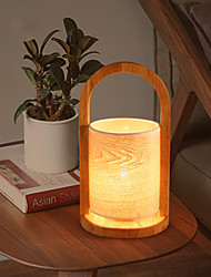 Modern Basket Table Lamp Wood Light Wooden Lamp Shade Study Room Bedroom Office Table Lamp