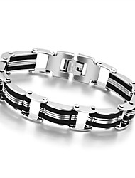 Top Quality Health Men Bracelet Bangle Stainless Steel Magnetic Care Jewelry Black and Silver
