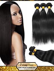 Indian Virgin Hair Straight 12 14 16 18 20 22 24 26 28 30 Inch 4pcs/lot 100g/pcs Rosa Hair 100% Human Hair