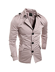 Men's Long Sleeve Short Trench coat , Cotton Blend Pure