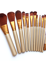 Pro Makeup Cosmetic 12pcs Brushes Set Powder Foundation Eyeshadow Lip Brush Tool