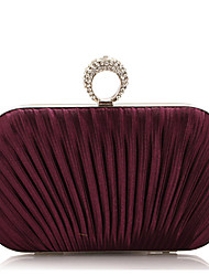 L.WEST® Women's Fashion And Elegant Silks And Satins Fold Diamonds Party/Evening Bag