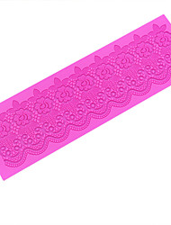 Flower Line Sugar Dress Silicone Lace Mat, Silicone Mat Lace Border of Cake, Silicone Mold,LFM-21
