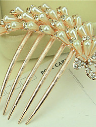 South Korea High-Grade Ornaments in Combs Hair Clasp Diamond Pearl Twist  The  Phoenix