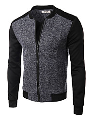 Men's Hoodie Coats & Jackets , Cotton / Cotton Blend Long Sleeve Casual Pocket Winter NEWJOGAL
