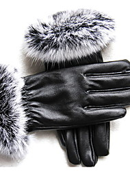 Winter Outdoor Cycling Warm Gloves Add Velvet Touch Screen Gloves PU Gloves