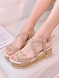 Women's Shoes Wedge Heel Wedges/Round Toe Sandals Outdoor/Casual Black/Red/White