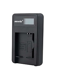 Camera Battery Charger with Screen for  Samsung BP - 70 - a Black