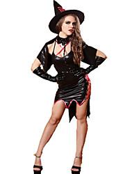 Costumes - Sorcier - Féminin - Halloween / Noël / Carnaval - Robe / Gants / Chapeau / Cape