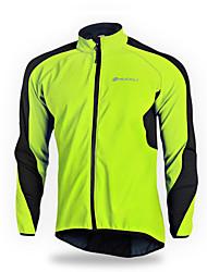 NUCKILY® Cycling Jacket Men's Long Sleeve Bike Breathable / Thermal / Warm / Windproof / Reflective Strips Windbreakers / Jacket / Jersey