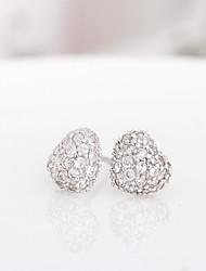 Sterling silver jewelry Cute/Party/Work/Casual Stud Earrings korean tv drama  branded / 3a cz stud heart earrings
