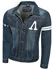 Men's Fashional  Printing  Denim Jacket