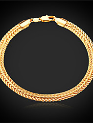 Vogue New Hot Vintage Bracelet Chain for Women Men 18K Real Gold Platinum Plated Jewelry High Quality