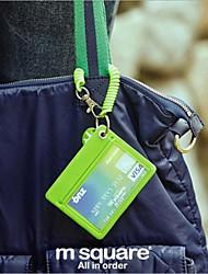 Porte-cartes de visite - Multifonction - Rouge/Noir/Vert/Bleu/Orange - en Plastique -