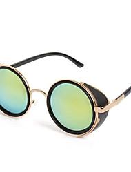 Sunglasses Men / Women / Unisex's Elegant / Retro/Vintage / Fashion Round Black / Silver / Brown / Gold Sunglasses Full-Rim
